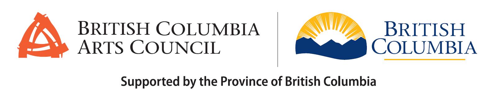 BC Arts Council and Province of BC Logo