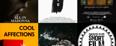 """Posters for """"All-in Madona"""", """"Barrier"""", """"Ohrwurm"""", """"Cool Affections"""", and """"Before the Beauty is Gone"""""""